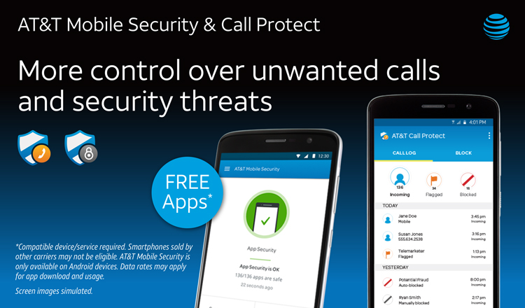 att helps protect customers with att mobile security and att call protect