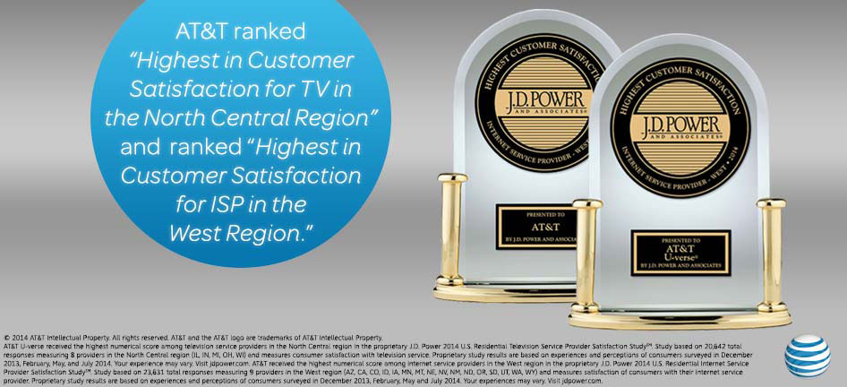 Customers Rate AT&T U verse Internet and TV Highest in