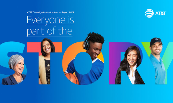 AT&T's diversity and inclusion annual report: everyone is a part of the story.
