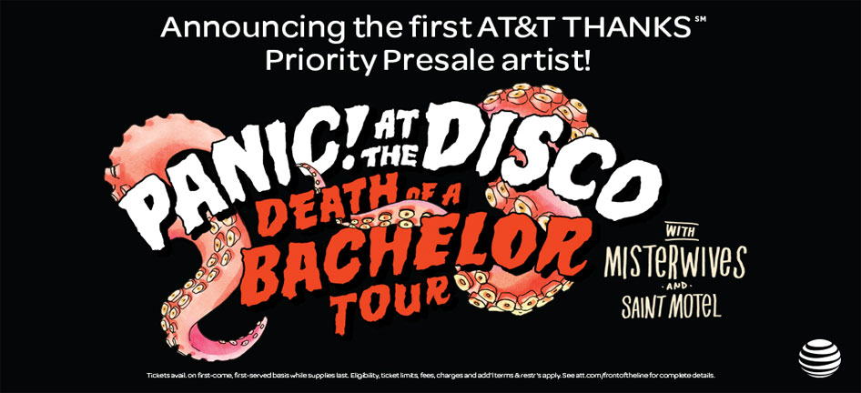 Att customers to get first shot at tickets for upcoming concerts att att customers to get first shot at panic at the disco tickets m4hsunfo