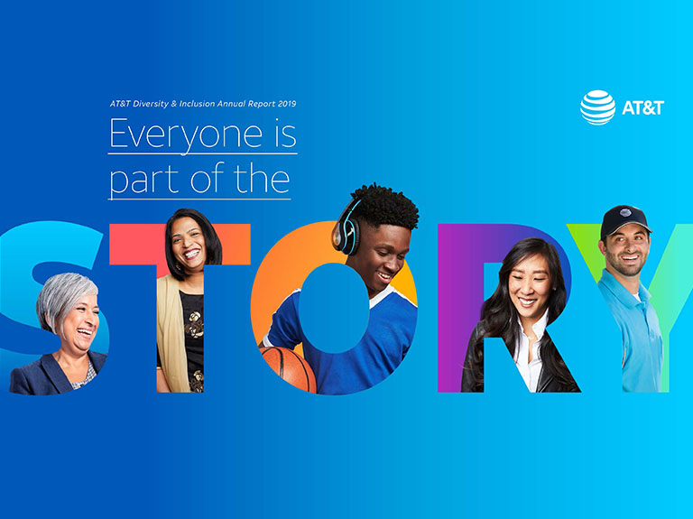 "AT AT&T ""EVERYONE IS PART OF THE STORY"""