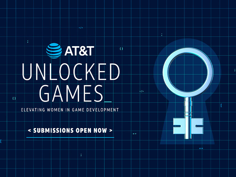 AT&T unlocked games elevating women in game development logo