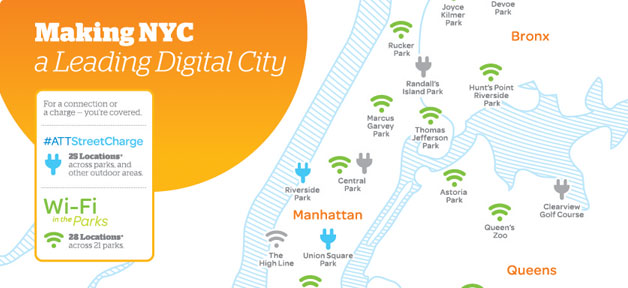 NYC Mobile Charging Station and Wi-Fi Map