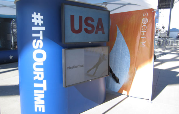 #ItsOurTime video booth at a recent event.